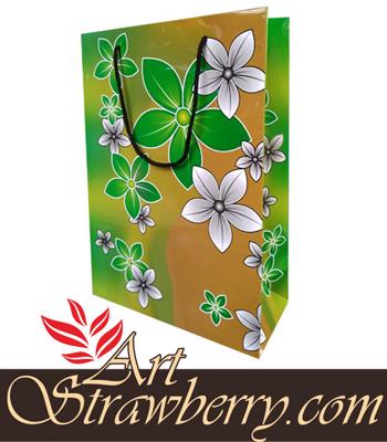 tas kertas art paper motif bunga